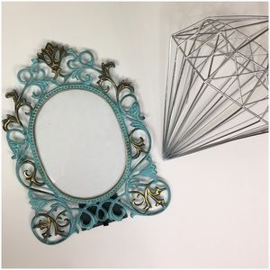 Gorgeous Ornate Verdi Gris and Gold Picture Frame